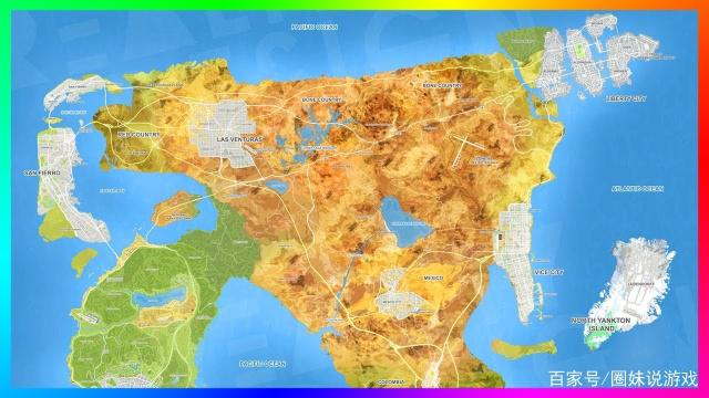 GTA6地图信息大整合,只有你想不到的大,没有R星不敢做的图