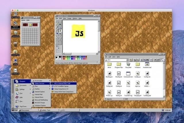 经典不死 Win 95 2.1发布 能在iPhone上运行