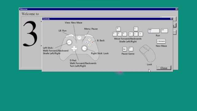 """还记得Win95上的那个""""三维迷宫""""屏保吗?"""