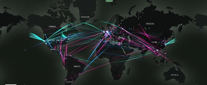 数据显示:中国遭受的网络攻击主要来自美国