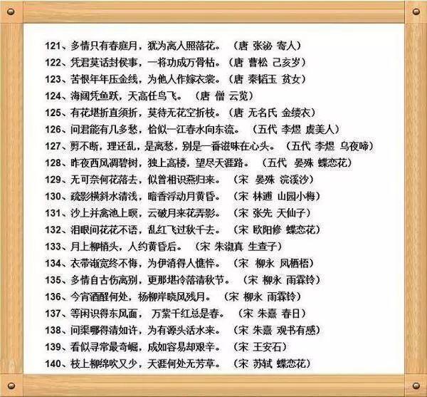 最全诗歌经典名句,小学必背,语文期末成绩好全靠它!