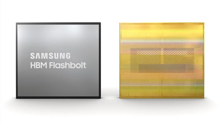 单颗最大容量16GB,三星推出业界首款第三代HBM2E显存