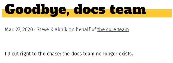 Rust 文档团队宣布解散