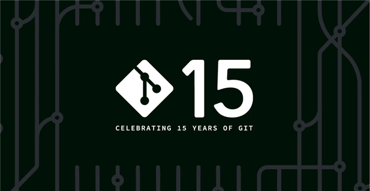"Git,15岁""生日""快乐!"