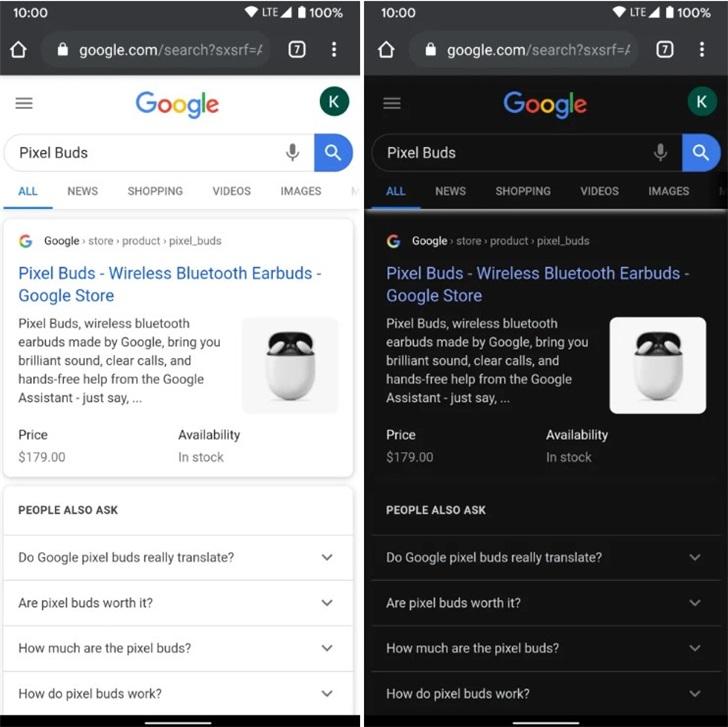 契合Chrome深色模式:谷歌搜索结果页将可随深色显示