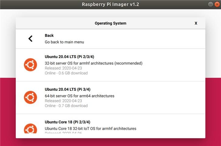 Ubuntu 20.04 LTS 已对树莓派进行认证,将提供全面支持