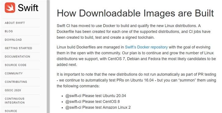 苹果 Swift 新增一组 Linux 发行版支持