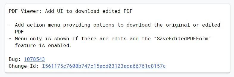 谷歌 Chrome 将允许用户下载编辑后的 PDF 副本