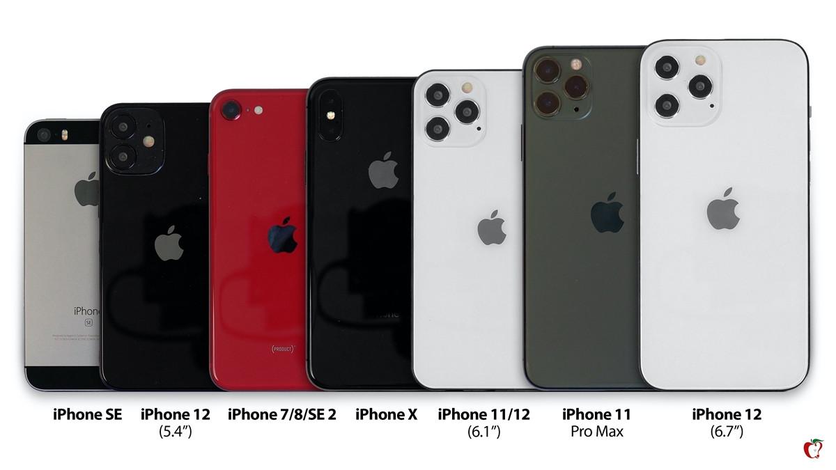 苹果 iPhone 12 模型对比 iPhone 7/8/X/11/11 Pro