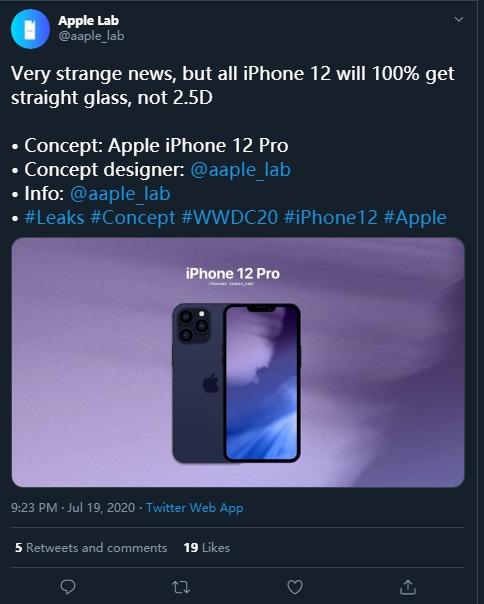 苹果 iPhone 12 / Pro 新消息:所有型号均采用平面玻璃设计