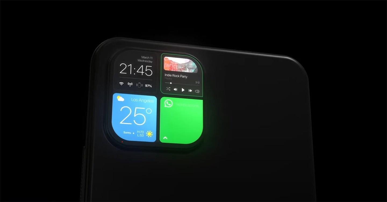 苹果 iPhone 概念设计:后置摄像头模组用作副屏